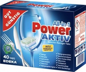 GUT&GÜNSTIG Geschirrreinigertabs All in One Power Aktiv 40x21g