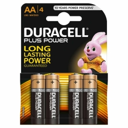 Duracell Plus Power AA Alkaline-Batterien 4 Stück