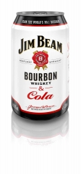 Jim Beam White & Cola 10% 0,33l